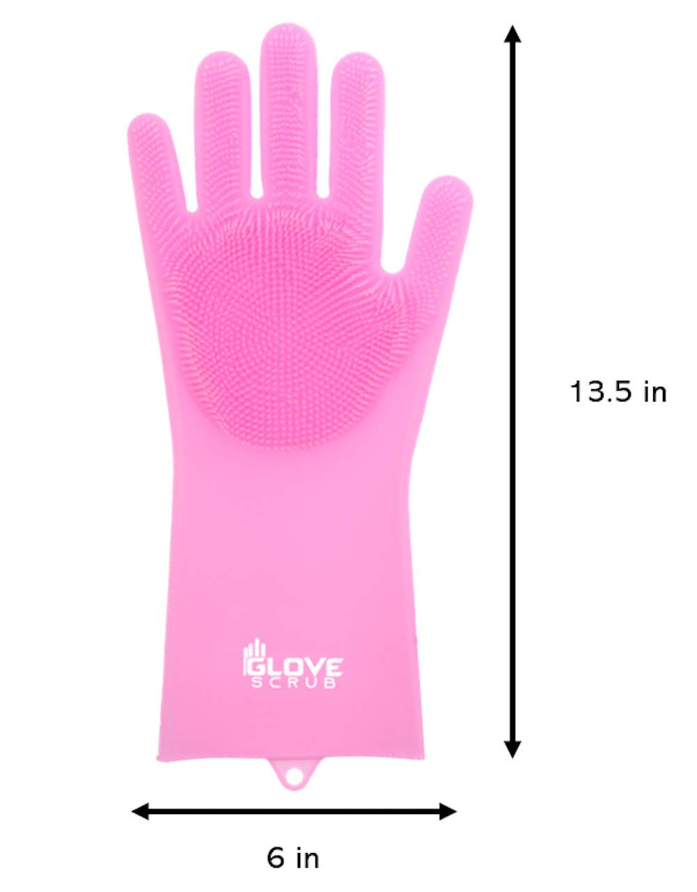 Glove Scrub Pet Durable Bathroom Cleaning Heat Resistant Blue Magic Silicone Scrubbing Pair of Gloves for Dishwashing