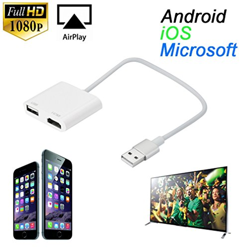 Nesee USB To HDMI HDTV HD Mirroring Adaptor Cable Converter Cord For iPhone 7 7 Plus (Rmvb To Avi Converter)