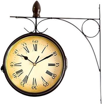 Vintage Wand Uhr Quarz analog Zeit Batterie Eisen Retro Deko Ziffern römisch