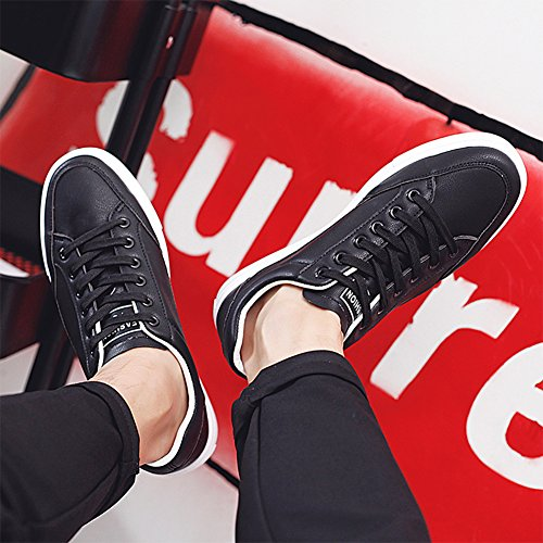 Flat Men's Stylish PP Board Casual Top Low Black Korean Shoes Skate Sneakers Fashion Style AYw5q1fw