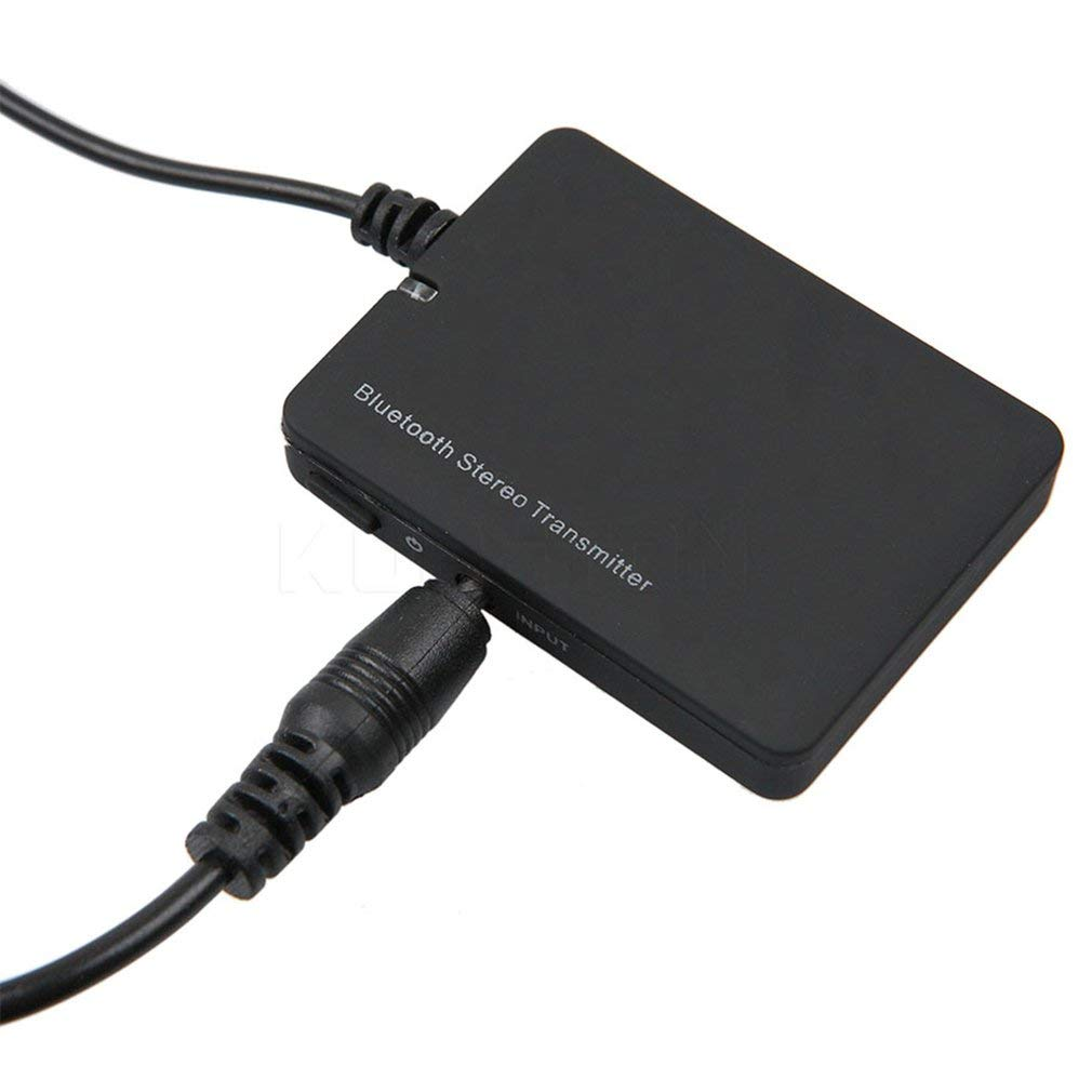 Kitechildhiid Trasmettitore Audio Mini Altoparlante Stereo da 3,5 mm per Altoparlanti Wireless Nero