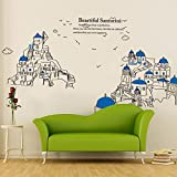 EMIRACLEZE Christmas Gift New Style Hote Sale Beautiful Landscape of Santorini Island Removable