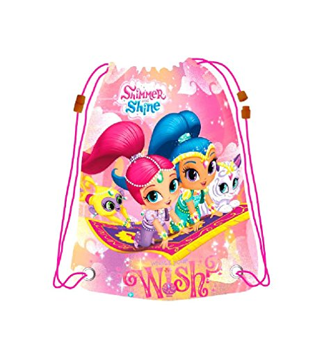 Drawstring Bag,Shimmer&Shine Bag,Swim Beach Bag,Gym Bag,Official Licensed by Shimmer&Shine