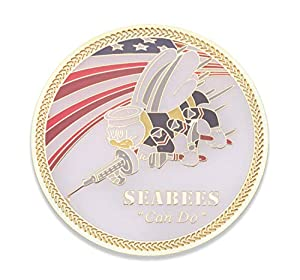 Navy Seabee Challenge Coin - United States Navy Seabees Challenge Coin - Amazing USN Navy Military Coin - Designed by Military Veterans! by Coins For Anything Inc