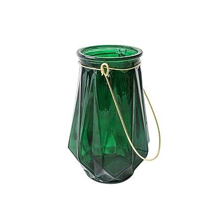 Amazon Zenggp Folded Glass Vase Scandinavian Retro Home
