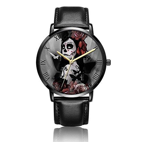 Sugar Skull Makeup Wrist Watch, LONHAO Unisex Customized