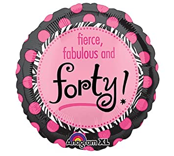 Amazon Com Fierce Fabulous Forty 40th Birthday 18 Balloon Pink