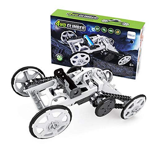 Nrbecurn STEM Projects for Kids, 4WD DIY Car Assembly Kit Real Motors Climbing Vehicle for Boys and Teens, Science Experiments, Circuit Building Toys for Teens ()