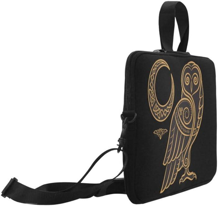 Laptop Sleeve Case 15 15.2 Inch Owl Celtic Moon Style Resistant Neoprene Laptop Sleeve Notebook Computer Pocket Case Tablet Briefcase Carrying Bag Laptop Shoulder Bag