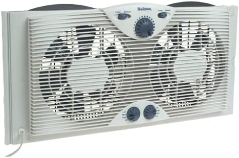 Holmes HAWF2041-N Twin Window Fan with Comfort Control Thermostat Image