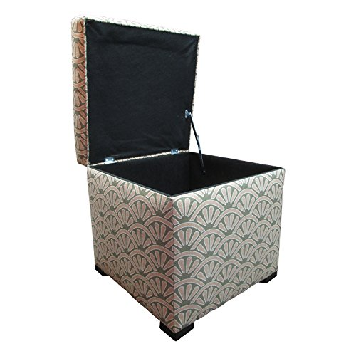 - Sole Designs Bonjour Themed Series Tami Collection Pink Blush Upholstered Bedroom Lift Top Storage Ottoman