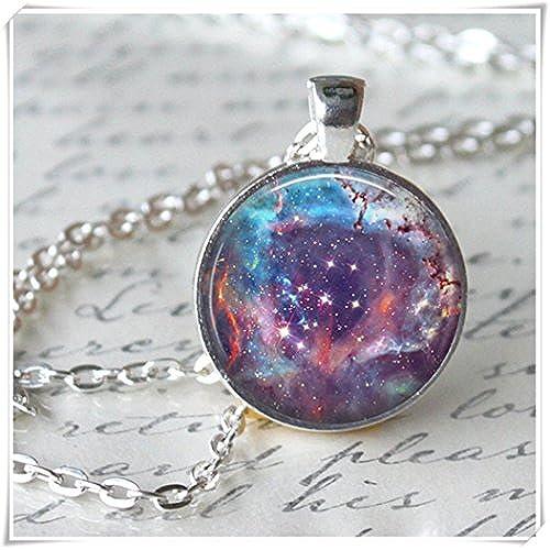 0379f8de73b07 Leonid Meteor Collar de ducha colgante Galaxy Universo Collar