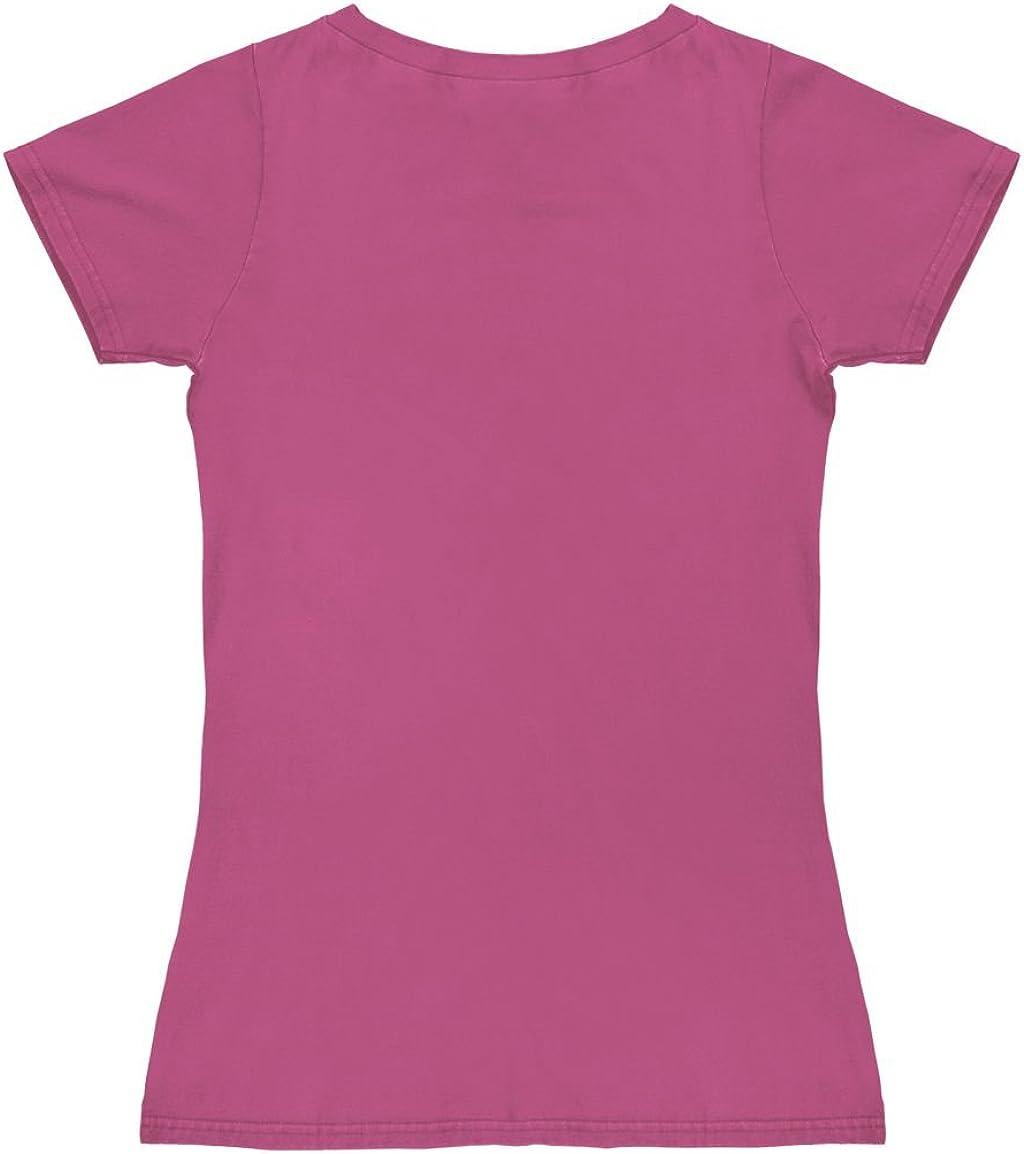 Ritratto Miss Piggy nel Colore Design Originale Concesso su Licenza Portrait Rosa Muppet Show Logoshirt T-Shirt Donna Miss Piggy