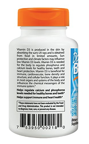 Doctor's Best Vitamin D3 5000iu, Soft Gels,