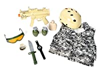 Maxx Action Swat Team Deluxe Costume Dress-Up Play Set (11-Piece)