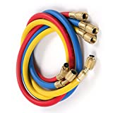 3 Color (2500~500)PSI 1/4 ''SAE-1/4'' SAE AC Charging Hose Set For HVAC Air Condition Refrigerant R12 R22 R502