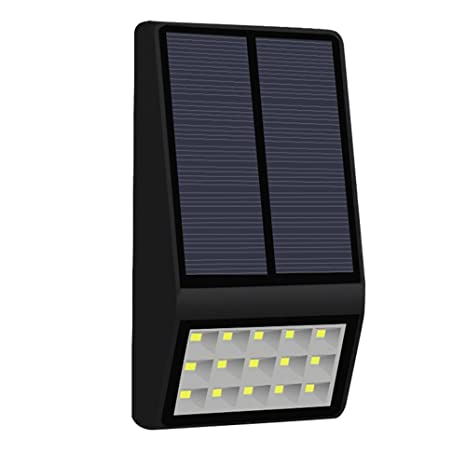 witmoving Solar luces al aire libre 15 LED Sensor de movimiento luces de seguridad resistente al