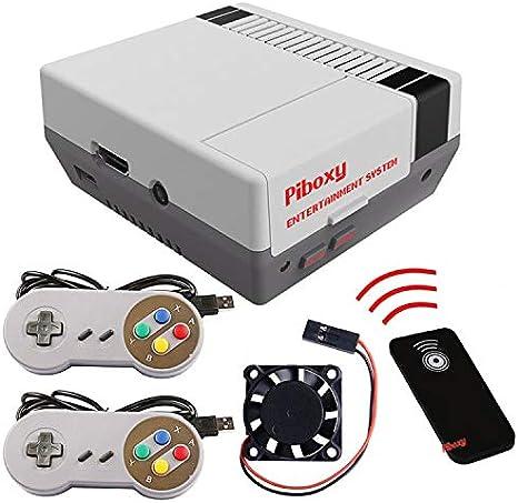 MakerFun Piboxy NES Case con Ventilador y botón de reinicio y ...