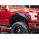 RDJ Trucks PRO-OFFROAD Bolt-On Style Fender Flares - Ford F150 2015-2017 - Set of 4 - Smooth Paintable OE Black