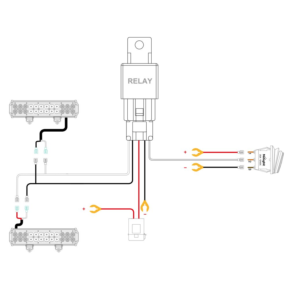 Installing nilight led wiring harness