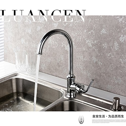 ETERNAL QUALITY Badezimmer Waschbecken Wasserhahn Messing Hahn Waschraum Mischer Mischbatterie Tippen Sie auf Heiß und Kalt - Wasserhahn Küche STRAPAZIERFÄHIGen Küche was