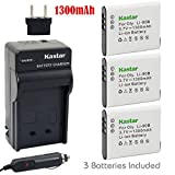 Kastar Battery (3-Pack) and Charger Kit for Olympus LI-90B, LI-92B, UC-90 work with Olympus SH-1, SH-50 iHS, SH-60, SP-100, SP-100EE, Tough TG-1 iHS, Tough TG-2 iHS, Tough TG-3, XZ-2 his Cameras