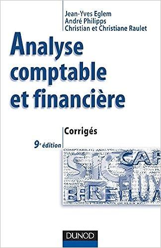 Amazon Fr Analyse Comptable Et Financiere 9eme Edition