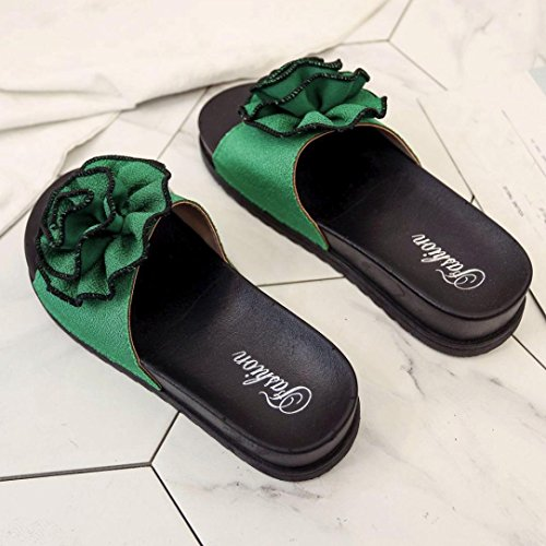 Sonnena Sandals For Women, Ladies Summer Beach Floral Platform Slippers Casual Wedge Sandals Women Shoes Green