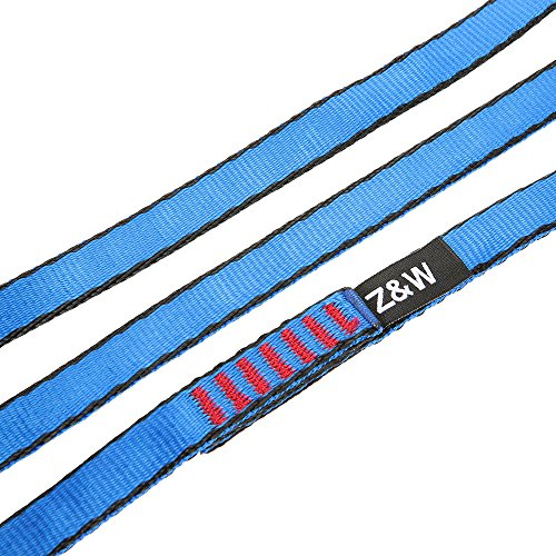 Docooler 23KN 16mm 120cm/3.9ft Rope Runner Webbing Sling Flat Strap Belt for Mountaineering Rock Climbing Caving Rappelling Rescue Engineering