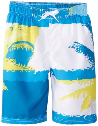 U.S. Polo Association Big Boys' Geometric Stripes Board Shorts, Blue, 18/20