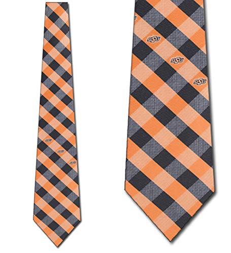 Oklahoma State Cowboys NCAA Check Poly Necktie ()