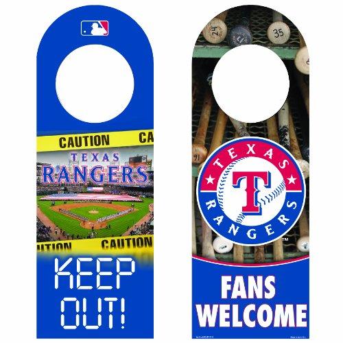 (MLB Texas Rangers Wood Door Hanger )