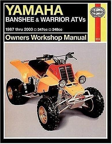 yamaha banshee warrior atvs 1987 2003 haynes repair manuals rh amazon com yamaha banshee maintenance manual yamaha banshee owners manual