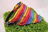 Rainbow Stripes/Diamond REVERSIBLE Pattern Dog Bandana No-Tie