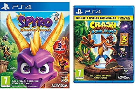 Spyro Reignited Trilogy & Crash Bandicoot N.Sane Trilogy: Amazon.es: Videojuegos