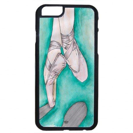 Cover Per Iphone 6 Colore Nero Scarpette Danza Classica Sfondo Verde