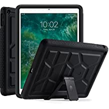 Poetic TurtleSkin New iPad 9.7 Inch 2017 Case With Heavy Duty Protection Silicone and Sound-Amplification Feature with Portable Tablet Stand for Apple iPad 9.7 (2017 MARCH Released) Black