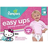 Easy Ups Training Pants Pull On Disposable Diapers for Girls Size 5 (3T-4T), 148 Count, ONE MONTH SUPPLY