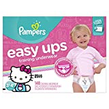 Pampers Easy Ups Training Pants Pull On Disposable Diapers for Girls Size 5 (3T-4T), 148 Count, ONE MONTH SUPPLY: more info
