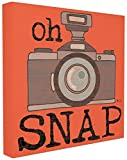 Stupell Home Décor Oh Snap Vintage Camera Stretched Canvas Wall Art, 17 x 1.5 x 17, Proudly Made in USA