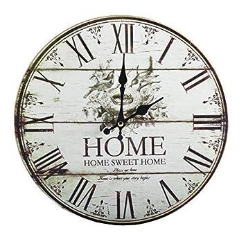 O34 Cm Wanduhr Uhr Wohnzimmer Kuchenuhr Rohmische Zahlen Vintage