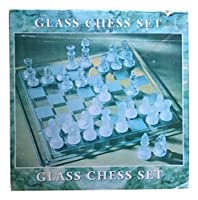 Kansas City Chiefs Glass Chess Set