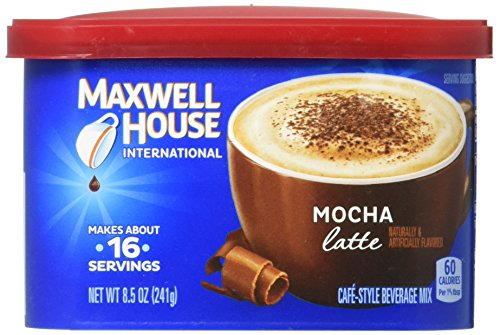 Maxwell House International Cafe Flavored Instant Coffee, Mocha Latte, 8.5 Ounce Canister (Pack of 4)