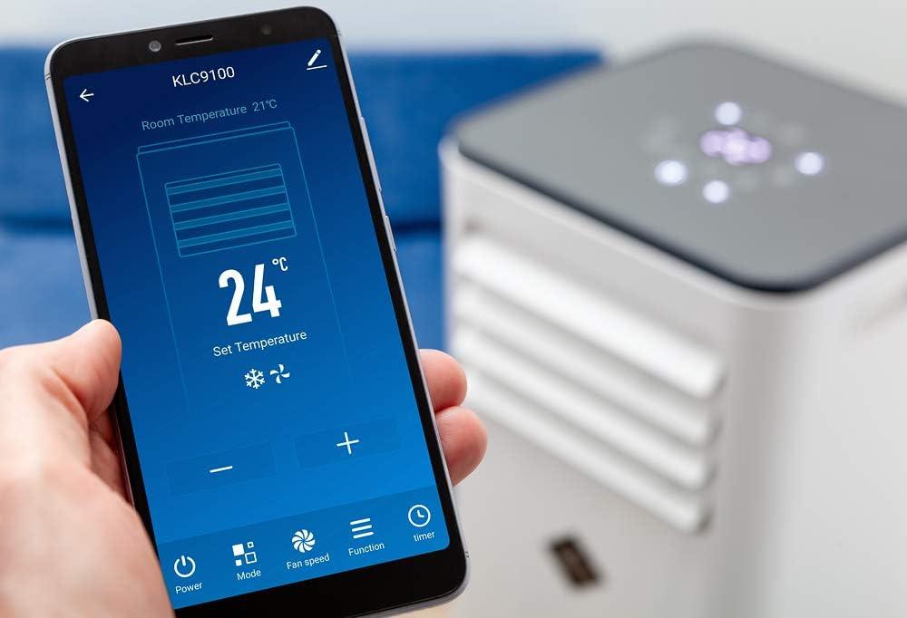 eldom Gas R290 Deshumidificador 9.000 BTU//h Control Remoto o App iOS//Android Ventilador Unidad de Aire Acondicionado Port/átil KLC9100 Panel Enfriamiento