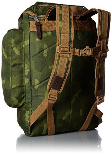poler Mochila Bag, unisex, Rucksack Bag, Green Camo, 50 x 40 x 6 cm, 25 Liter Green Camo