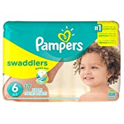 Pampers Swaddlers Disposable Diapers Size 6, 17 Count, JUMBO