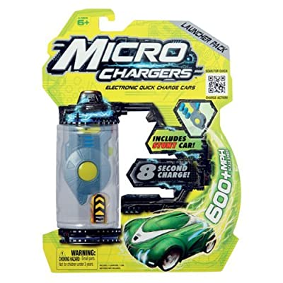 Micro Chargers Launcher Pack with Stunt Car (color may vary): Toys & Games