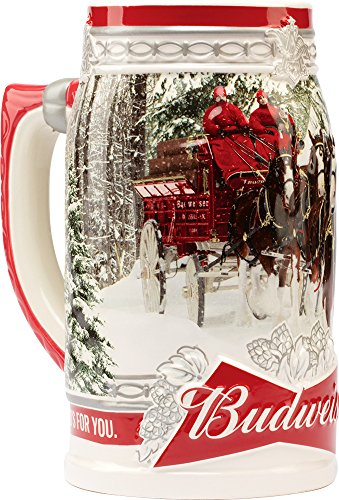 Christmas Holiday Mug (Budweiser 2017 Holiday Stein, 31-ounce)