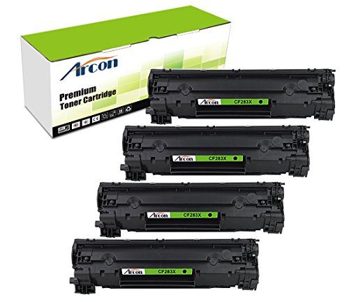 arcon-4pk-2400-pages-high-yield-compatible-toner-cartridge-replacement-for-hp-83x-cf283x-cf283-used-