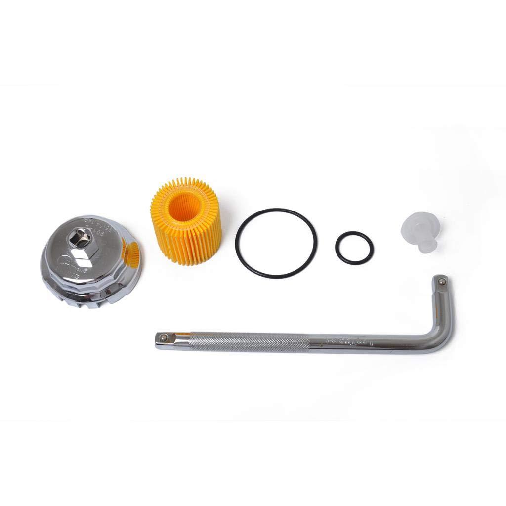 Homyl Filtro de Aceite y Tapa y Llave Set 1562037010 para Coche Autom/óvil